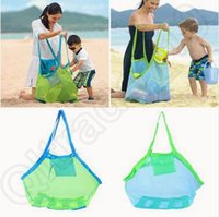 art table clothe - Children Baby Outdoor Beach Sandy Toy Clothes Towel Collecting Bags Shoulder Bags Large Space Mesh Bags Handbag Totes CCA5559