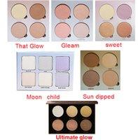Wholesale Sun Glow Wholesale - Stock 6 Models Glow Makeup Kit Face Blush Powder Blusher Cosmetic Blushes Bronzer- Gleam That Glow Sun Dipped Sweet Moon Child Ultimate Glow