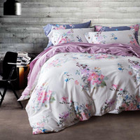 bedding flowers - 4 Piece Bedding Sets Classical Luxury Bed Sheets Soft Cotton Printed Flower Chinese Style High Quality Wrinkle and Fade Resistant