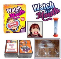 Wholesale New Watch Ya Mouth Party Game Board Game cards mouthopeners Family Edition Hilarious Mouth Guard