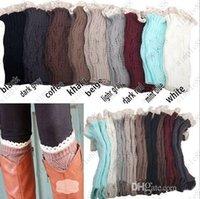 Wholesale Lace leg warmers Wool is hollow out shoe set Ms diamond leaves knitting warm feet short sleeve