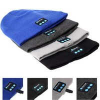 beanie with cap - Bluetooth Music Soft Warm Beanie Hat Cap with Stereo Headphone Headset Speaker Wireless Mic Hands free for Men Women