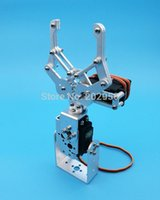 Wholesale 1 Set DOF Silver Aluminum Robot Arm Clamp Claw Mount Kit No Servo Fit For Arduino Retail