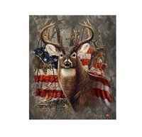 americana fabric - Customs W x H Inch Shower Curtain Anti Bacterial Americana Flag Deer Polyester Fabric Shower Curtain