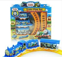 Wholesale Explosion of children s toys electric rail car assembly rail car children s educational toys factory direct