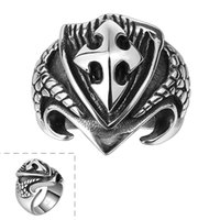 Wholesale Unsex Jewelry Punk Style Men s Ring Classic Hollow Punk Ring Size US