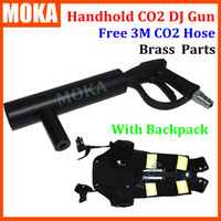 Wholesale Handheld CO2 DJ Gun co2 Jet Machine CO2 Tank Backpack belt with m gas hose nightclub Cannon