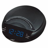 Wholesale LED Display Radio With Alarm Clock LED Ditigal Backlight Mini FM AM Dual Band Radio Auto Search Clock Snooze Sleep Table Clock