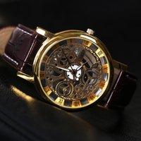 analog titanium - Hot Sale Fashion Men Leather Strap Watches Brand Famous Military Sports Quartz DZ4290 Watch Male Clock relogios