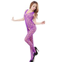 babydoll body - Hot Sexy Hollow Conjoined Fishnet Body Stocking Erotic Lingerie Network Sex Costumes Black Mesh Open Crotch Babydoll Underwear