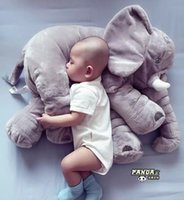 Wholesale Elephant Pillow With Blanket Plush Stuff Soft Elephant Toys Lumbar Pillow for baby