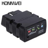Wholesale New Konnwei KW902 Mini ELM327 Bluetooth KW902 OBD II Car Auto Diagnostic Scan Tools Automotive Car Scan Tool Wireless Connection