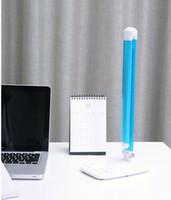 Nueva luz spot llevó bombillas de estilo moderno brillante y duradera brazos largos plegado inteligente toque interruptor de la lámpara de escritorio