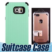 armor carrier - RETAIL PACKAGE Luggage Armor Hybrid Hard PC Soft TPU Case for iPhone samsung s7 cases Suitcase Carrier Slim Phone Cover Skin