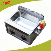 big deep fryer - 2017 Commercial Big Size Gas Deep Fryer Potato Chips Fryer Machine Chicken Frying Machine Stainless Steel
