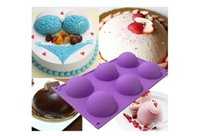 Wholesale Silicone Round Shape Mold Muffin Pan Jelly Cupcake Candy Mold Cake Chocolate Soap Mould Baking Tool