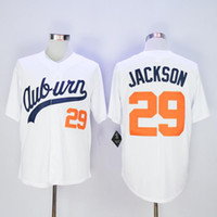 Wholesale Men s Best Quality Throwback VINTAGE White Baseball Jerseys Bo Jackson Jersey fashion for Mix Order