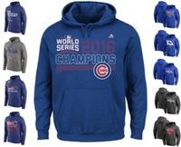 authentic hoodies - 2016 MLB New Men s Chicago Cubs Wolrd Series Champions Hoodies Baseball Collection Authentic Jerseys igh Quality Stitched Sweatshirt