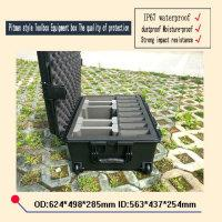 Wholesale waterproof safety equipment case trolley Tool case camera box Instrument box Plastic sealed case with pre cut foam