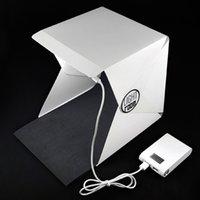 Photo Studio Flash Diffuseurs Portable Mini Kit de photographie Light Box Softbox photographique avec des fonds 226 * 230 * 240mm photo lumière tente