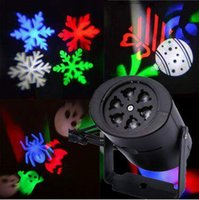 acrylic flakes - LED Snow Flake Garden Lamp Waterproof Moving Snow Laser Lamp Snowflake LED Stage Light For Christmas Party Light With Films CCA5305