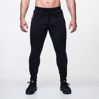 Wholesale Muscle brother AG men s fitness leisure trousers made of pure cotton elastic cultivate one s morality pants leg guard pants