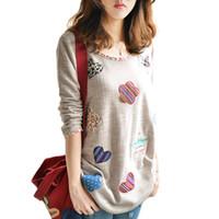 Wholesale Spring Autumn Plus Size Long Sleeve Cotton Blouse Women Casual Loose Tops Woman Cute Pattern Shirt Female Blusas XL XL