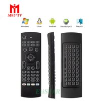 Backlit MX3 Multifonction 2.4G Mini Air Mouse Keyboard Télécommande infrarouge 3-Gyro + 3-Gsensor pour Google Android TV / Box, IPTV, HTPC