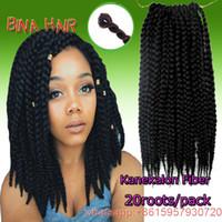 Wholesale 14inch crochet braids kanekalon black color mambo senegal twist box braid synthetic hair extensions roots pack