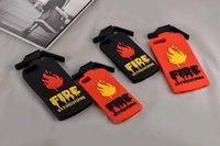 Precio de Fire extinguisher-Para iPhone 7 4.7 / Plus / 6 6S I7 5.5inch 3D extintores de incendios Patrón de Shell de protección Soft Silicona caso de dibujos animados de moda de piel de goma cubierta