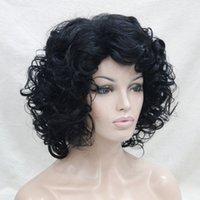 2017 La nouvelle perruque pleine de femmes de perruque courte bouclée sexy noire de jet de cosplay sexy mignonne de mode de la nouvelle sexy de charme