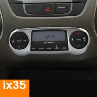 Whole Body auto parts body panels - Car Styling Stainless Steel Center Car Console Control Panel Interior Decoration Stickers Cover Trim For Hyundai IX35 Auto Parts