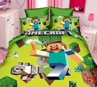 bedding duvet cover sell - Hot selling Minecraft Bedding set Quilt bed sheet Pillow Case Single Twin Size children Bedding Duvet Cover Flat Sheet Minecraft set