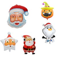 balloon shape pattern - Creative Cartoon Christmas Pattern Decor Balloon for Kids Santa Claus Snowman Shape Cute Balloon for New Year Gifts NXH2333