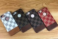 For Apple iPhone apple lattice - Box Cell Phone Back Cover Two Color Lattice Phone Protection Cheap Cell Phone Cases Six Color