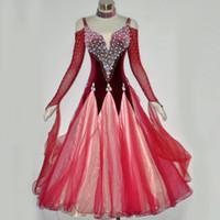 ballroom dresses china - Standard Dance Dresses Women Flamenco Skirt High Quality Glass Tango Waltz Costume Ballroom Dress China