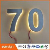 Wholesale Custom doorplate lamp light led billboard lamp of house number solar apartment Number light