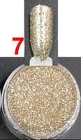 Vente en gros-2.5g / pot, Couleur Platine, Ongles Glitters Poudre de poudre acrylique pour Nail Art Conseils pour les ongles Accessories.BNG02007