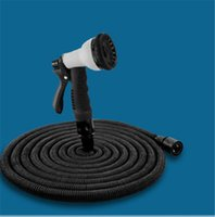 Hoses & Hose Reels latex  25FT Expandable Flexible Hose Garden Watering Pipe with Spray Nozzle High Quality Latex Washing Car Pet Floor Hoses 50FT 75FT 100FT EU US