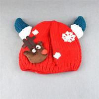 Unisex fancy crochet hats - 2016 New Kids Milu Deer Children Hats Fancy Gifts Red Thicken Plush Hat Family Child Cap Milu Deer Hats Warm Caps Winter