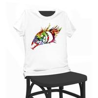 Eye Floral Print Beauty T-shirt Funny T-Shirts Chemise manches courtes Tops Vêtements T-shirt été femme pour femme Lady Girl