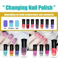 Wholesale Colors ml Color Changing Thermal Nail Polish Peel Off Temperature Change Nail Art Varnish Decor