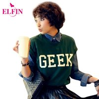 Wholesale Women T shirts Roll up Short Sleeve Shirt At Random Hem Geek Loose T shirts Printed Letter Casual Tops For Women LSP8023R