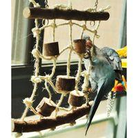 Wholesale Good Quality Birds Hemp Rope Climbing Net Pet Parrot Chew Toy Budgie Parakeet Cockatiel Hanging Swing Ladder JJ0204