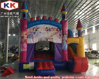 backyard playground slides - Custom Size Playground Slides Bouncy House Castle For Commercial Princess Inflatables