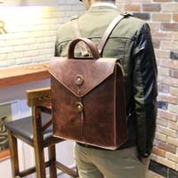 Nouveau luxe de luxe Brown / noir PU cuir unisexe femmes hommes sacs à dos sacs de voyage de haute qualité