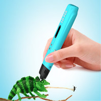 Wholesale Hot Graffiti Creative DIY D Drawing Pen with LCD Screen DIY D Printer support Colorful PLA Filaments DIY Stereo Drawing Pen