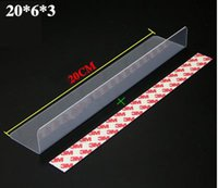 accessories dividers - Magnetic Shelf divider L separeted pvc strip with magnet tape shelf display rack accessory side guard