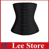 Cheap Free shipping 4 Spiral Steel Boned Breathable Underwear Belt Waist Trainer Body Shaper Underbust Corset Plus Size S-6XL