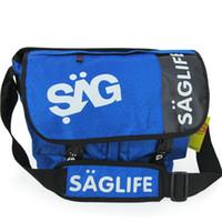 Sac messager Saglife Sacoche bleue noire en couleur bleue Sacoche sport en plein air